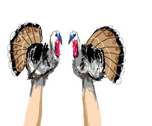 Hand turkeys