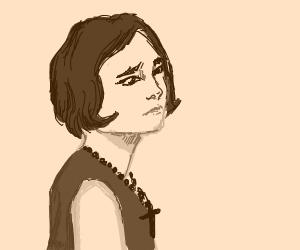 Sad Christian Female, photoed in 1920.