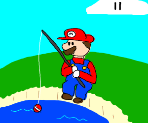Mario is Fishing