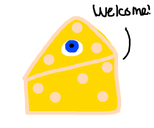 A cyclopean cheese wedge welcomes you