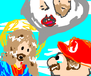 jesus tells mario about nose, beard,and mouth