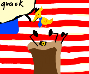 a duck as the us president