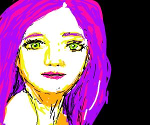 woman with purple hair