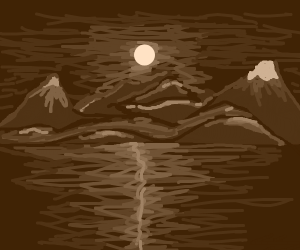 View of sun over mountaintops