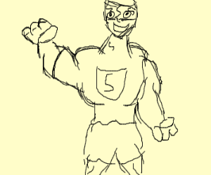 A super hero that has s on his shirt n gogles