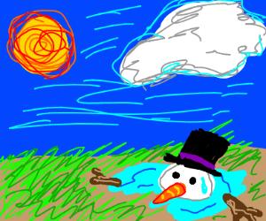 hot snowman