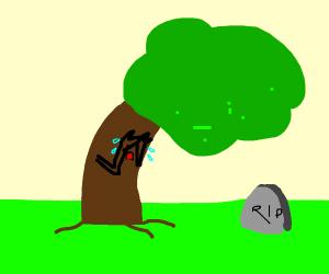 Tree mourning.