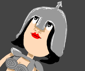 A lone female warrior.