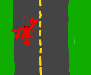 lobster roadkill