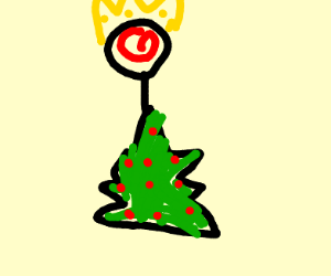 Candy Cane King claims Xmas tree