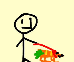 guy with carrot dog