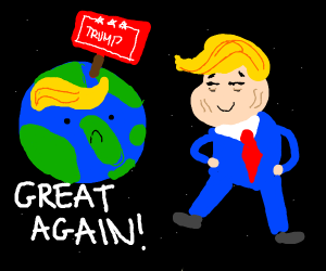 Trump makes the world great again