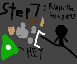 Illuminati tea party, step 5: