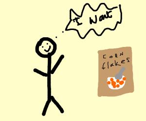 Stickman wants Cornflakes