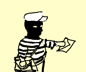 robber becomes a mail man :)