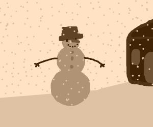Sepia Filter Snowman