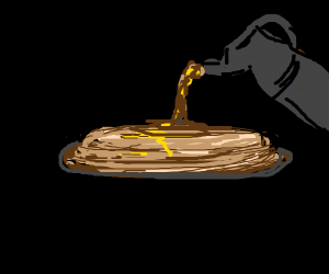 sentient pancakes with syrup