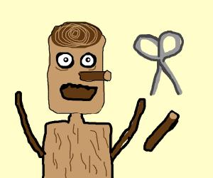 Pinocchio with a circumcised nose