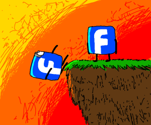 Pushing a Facebook clone off a cliff.