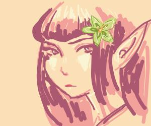 Beautiful elf woman