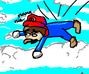 Mario Falls Out of the Sky
