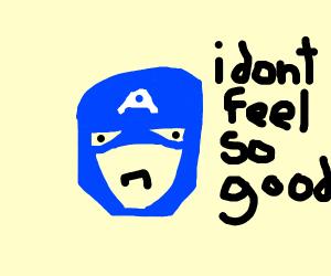 captain america dosent feel so good