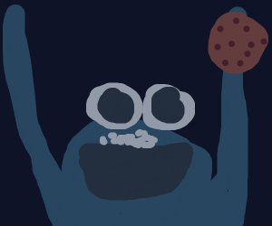 Cookie Monster addicted to crack