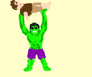 The hulk kills Quasimodo