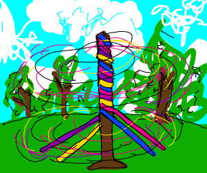 Maypole spirals like a galaxy