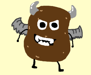 Potato with horns and wings