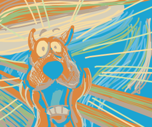 The scream painting but it's Scooby doo