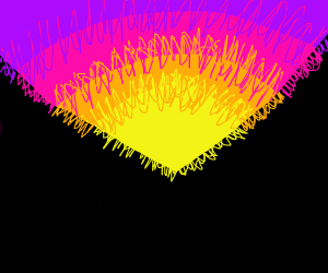 Stylised sunset over valley