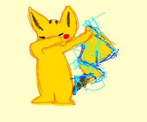A pokémon dabbing