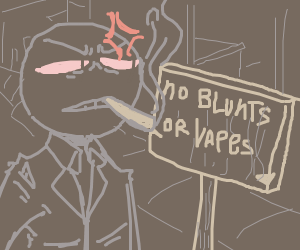 No blunts (or vapes) in this town bucko