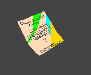 ticket for movie