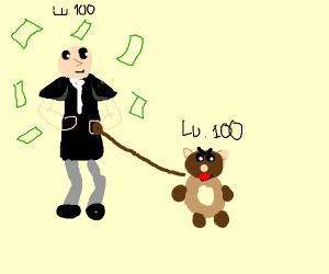 Lv 100 mafia boss with a lv 100 pet bear