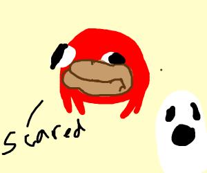 Bootleg Knuckles is afraid of ghost