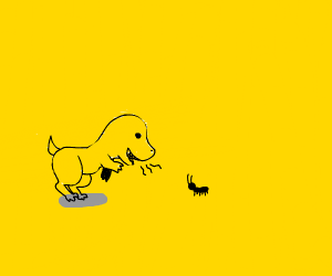 robo-dino tells secret to robo-ant