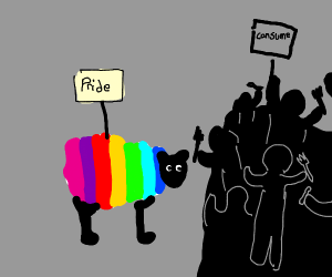 everyone prepared to consume the gay sheep