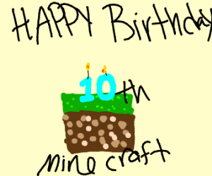 Happy Birthday 10th Minecraft!