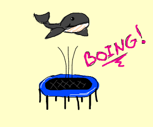Whale on trampoline