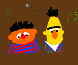 Bert and Ernie are in deep sh't