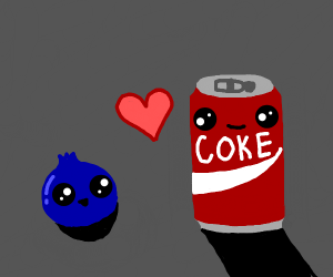 Blueberry and Coke fall in love