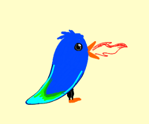 Fire breathing birb