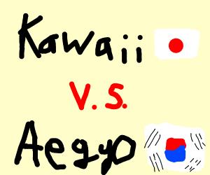 Weeaboo v s  Koreaboo - Drawception