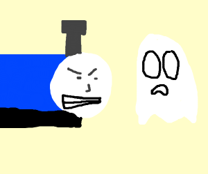 Thomas the train angry at ghost
