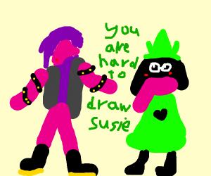 Susie and Raslei (Deltarune)