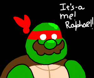 Mario fused with Ninja Turtles!