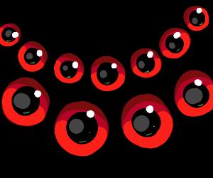 11 glaring red eyes