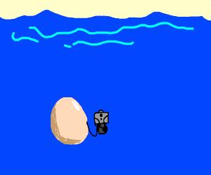 underwater egg with a gun